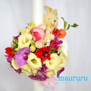 Lumanare Botez Happy Bunny.