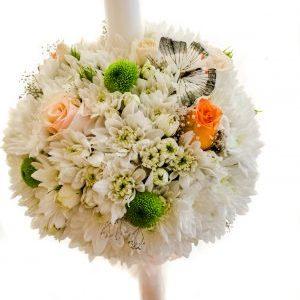 Lumanari nunta din crizantema.